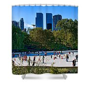 The New York Central Park Ice Rink  Shower Curtain