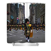 The New York City Police Emerald Society Pipe And Drum Corps Shower Curtain
