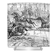 The Newport Pagnel Steeple Chase Shower Curtain