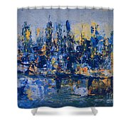 The Night City Shower Curtain