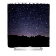 The Night Landscape View And The Stars At Tuttle Creek, Lone Pin Shower Curtain