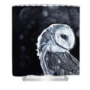 The Night Watcher Shower Curtain