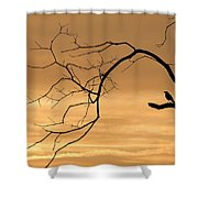 The Night Watchman Shower Curtain