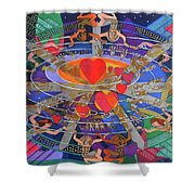 The Nine Lives Of The Heart Shower Curtain