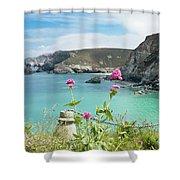 The North Cornwall Coast Shower Curtain