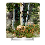 The North Rim Forest Shower Curtain