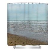 The North Sea Landscape Shower Curtain
