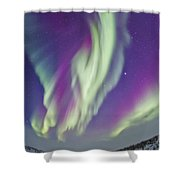 The Northern Lights In Churchill Shower Curtain