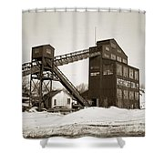 The Northwest Coal Company Breaker Eynon Pennsylvania 1971 Shower Curtain