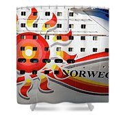 The Norwegian Sun Bow Shower Curtain by Susanne Van Hulst