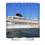 The Norwegian Sun Is Leaving Shower Curtain by Susanne Van Hulst