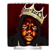 The Notorious B.i.g. - Biggie Smalls Shower Curtain by Paul Ward