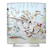 The Novelist Shower Curtain