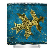 The Oak Leaf And The Wind Storm Shower Curtain