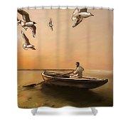 The Oarsman Shower Curtain