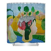 The Oasis Of Desire Shower Curtain