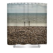 The Ocean Can Make You Feel Small, Bognor Regis, Uk. Shower Curtain