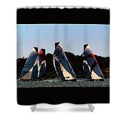 The Ocean Race Shower Curtain