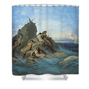 The Oceanides 1869 Shower Curtain