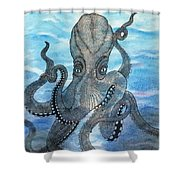 The Octopus 3 Shower Curtain