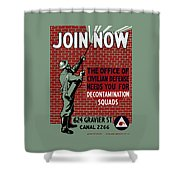 The Office Of Civilian Defense Needs You - Wpa Shower Curtain
