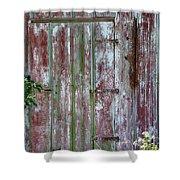 The Old Barn Door Shower Curtain