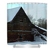 The Old Barn Winter Scene  Shower Curtain