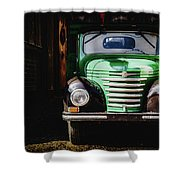 The Old Beer Truck Shower Curtain
