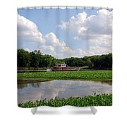 The Old Boat On The Mississippi River Shower Curtain