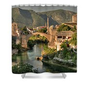 The Old Bridge Of Mostar  Shower Curtain