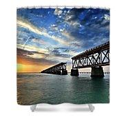 The Old Bridge Sunset - V2 Shower Curtain