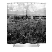 The Old Cemetery At Galisteo Shower Curtain