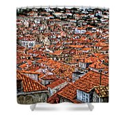 Dubrovnik Rooftops Shower Curtain