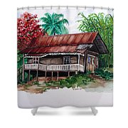 The Old Cocoa House  Shower Curtain