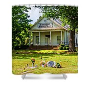 The Old Country Churchyard Shower Curtain