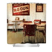 The Old Diner Shower Curtain