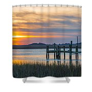 The Old Dock - Charleston Low Country Shower Curtain