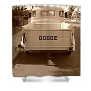 The Old Dodge Shower Curtain