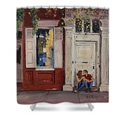 The Old Doorway Shower Curtain