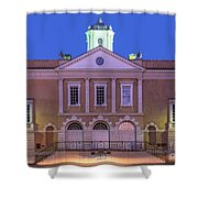 The Old Exchange And Provost Dungeon At Twilight Charleston South Carolina Shower Curtain