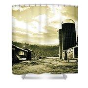 The Old Farm Shower Curtain