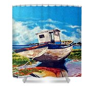 The Old Fishing Boat Shower Curtain
