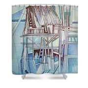 The Old Fishing Shack Shower Curtain