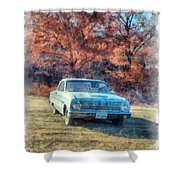 The Old Ford On The Side Of The Road Shower Curtain