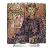 The Old Gardener 1921 Shower Curtain