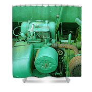 The Old Green Dumper Shower Curtain
