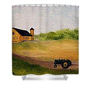 The Old Green Tractor Shower Curtain