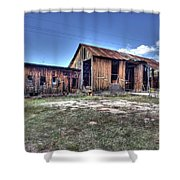 The Old Haunted Barn Shower Curtain