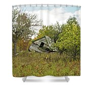 The Old Homestead And Orchard Shower Curtain