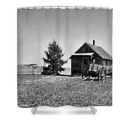 The Old Homestead Paint Shower Curtain